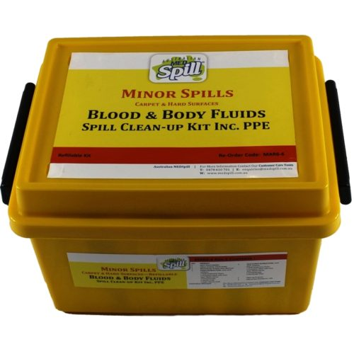 Minor Blood & Body Fluid Spills Kit with PPE 1